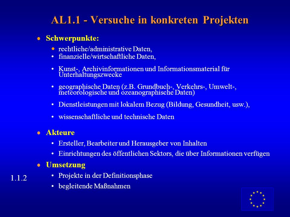 AL1.1 - Versuche in konkreten Projekten