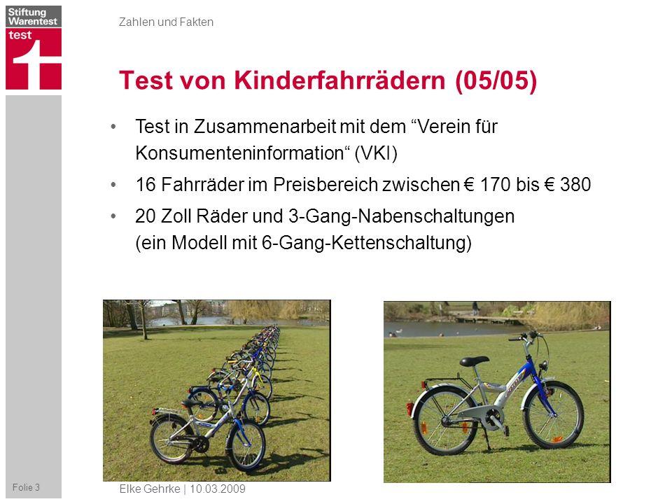 Test von Kinderfahrrädern (05/05)