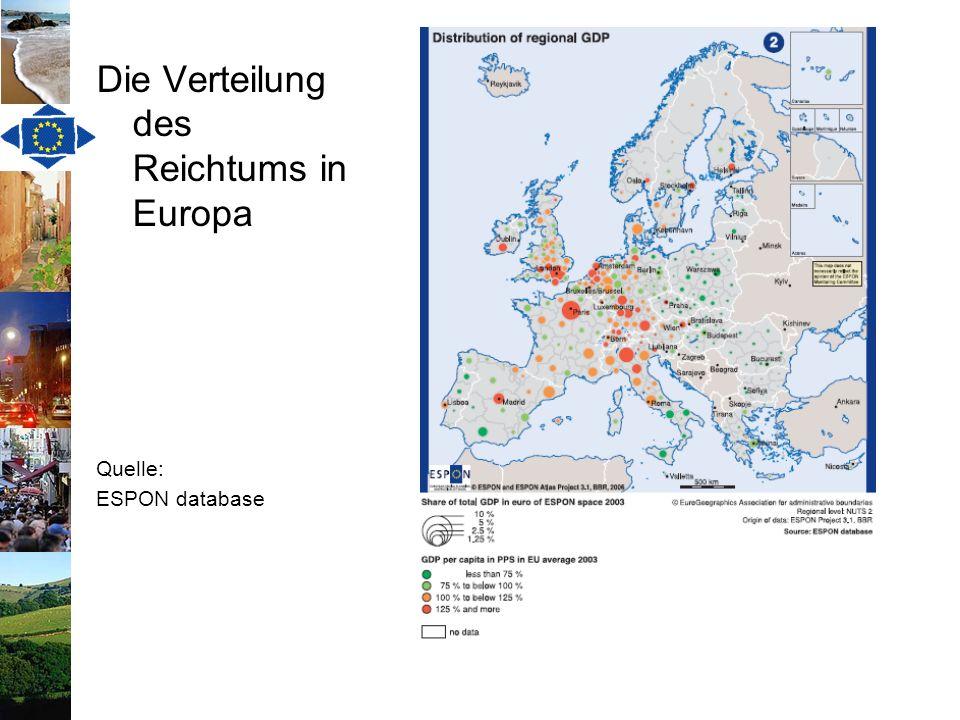 Die Verteilung des Reichtums in Europa