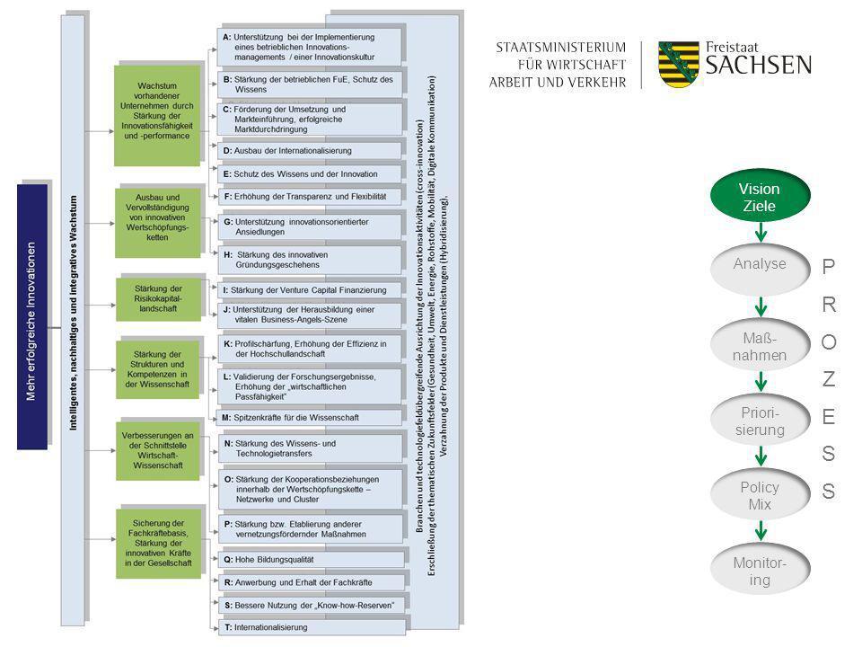 P R O Z E S Vision Ziele Analyse Maß-nahmen Priori-sierung Policy Mix