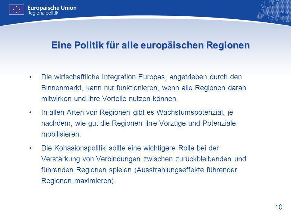 Eine Politik für alle europäischen Regionen
