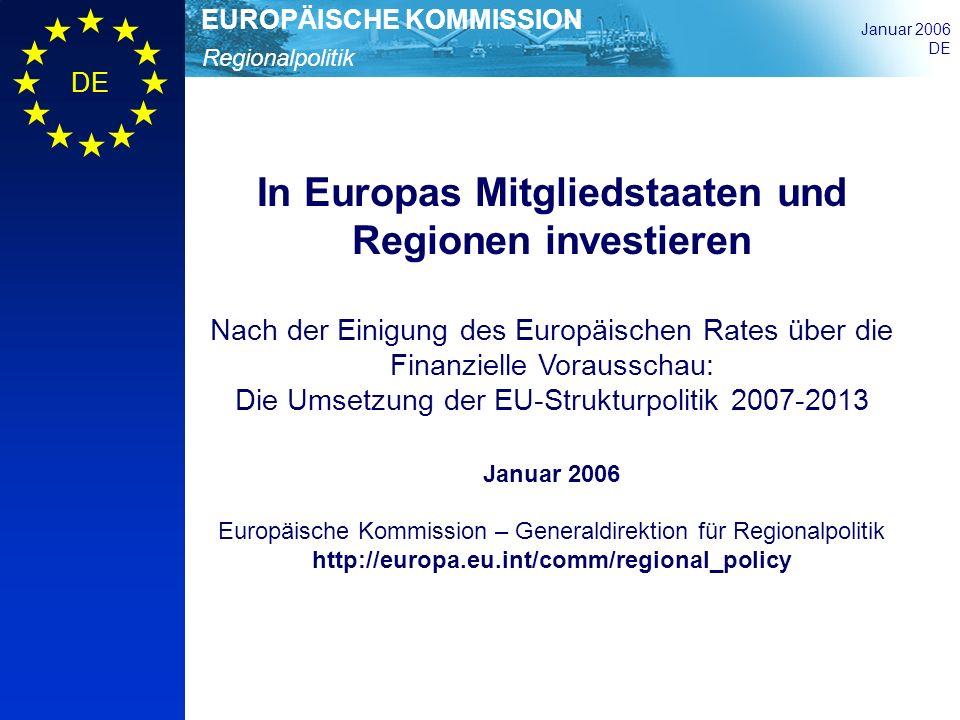 In Europas Mitgliedstaaten und Regionen investieren