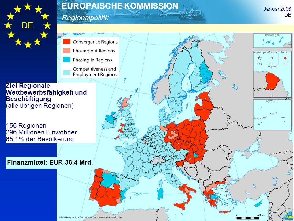 Ziel Regionale Wettbewerbsfähigkeit und Beschäftigung