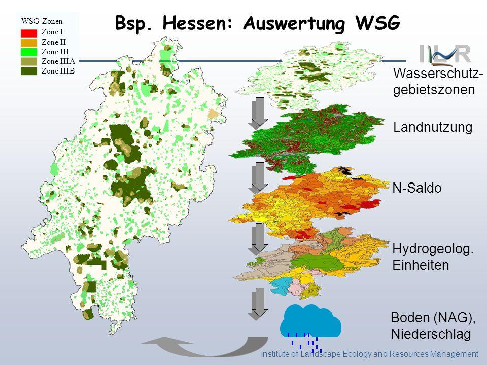 Bsp. Hessen: Auswertung WSG