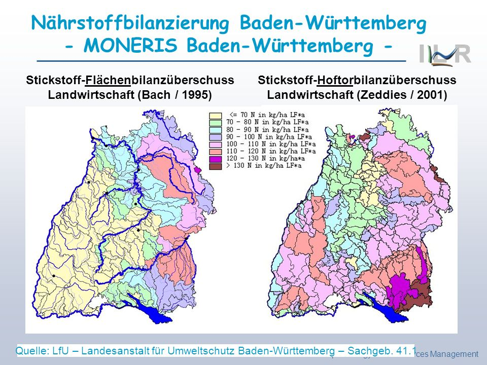 Nährstoffbilanzierung Baden-Württemberg - MONERIS Baden-Württemberg -