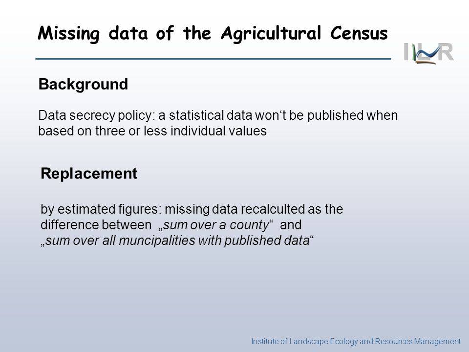 Missing data of the Agricultural Census