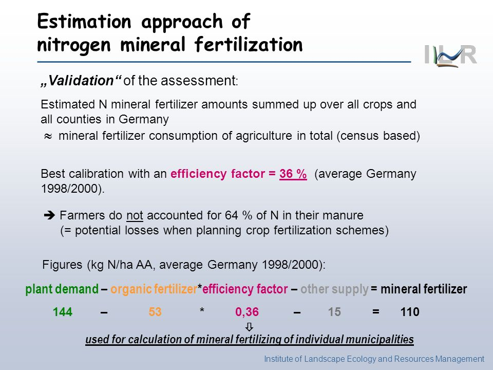 Estimation approach of nitrogen mineral fertilization