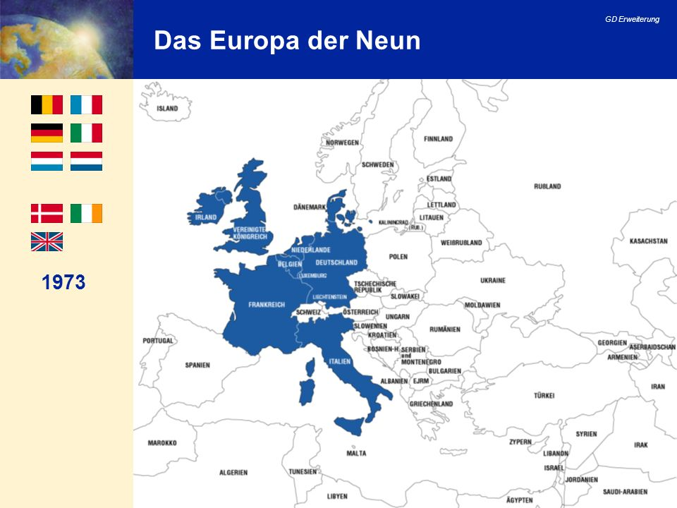 Das Europa der Neun 1973