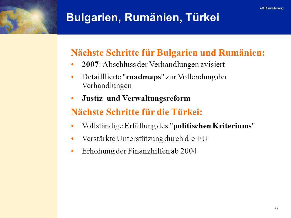 Bulgarien, Rumänien, Türkei