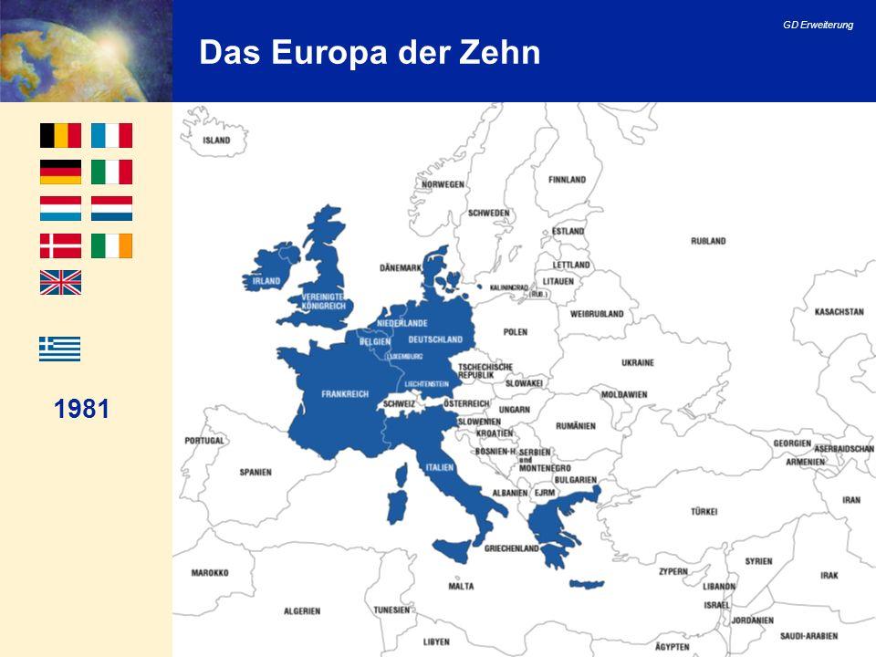 Das Europa der Zehn 1981