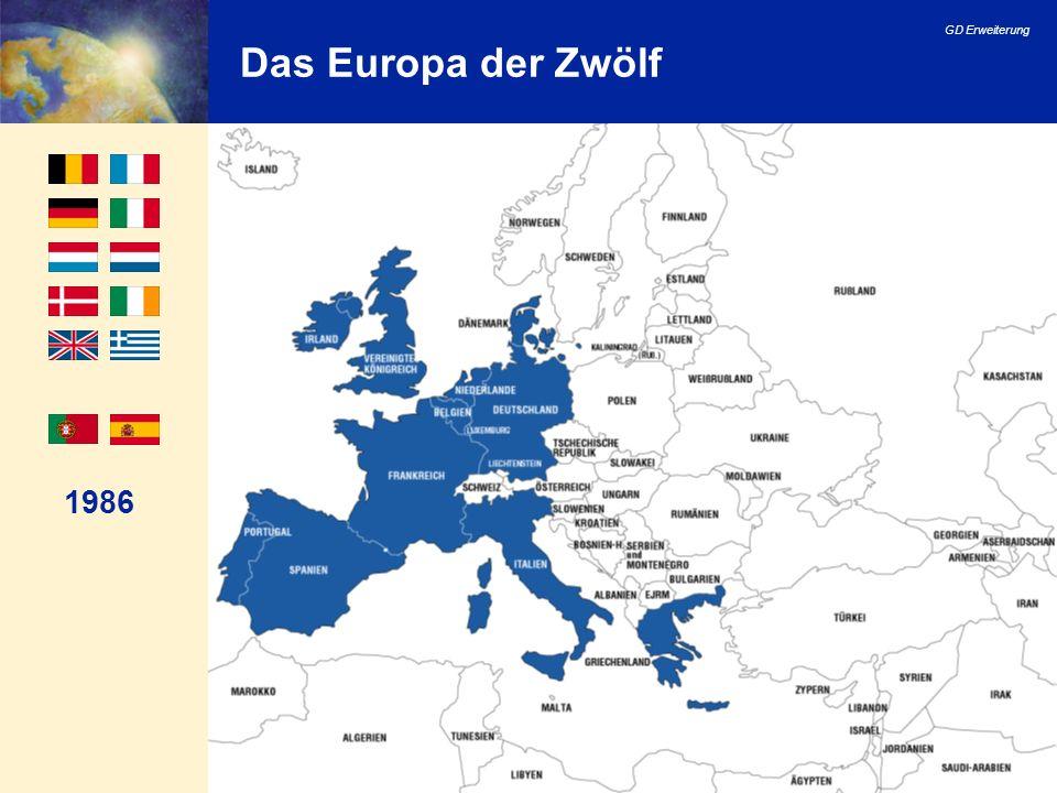 Das Europa der Zwölf 1986