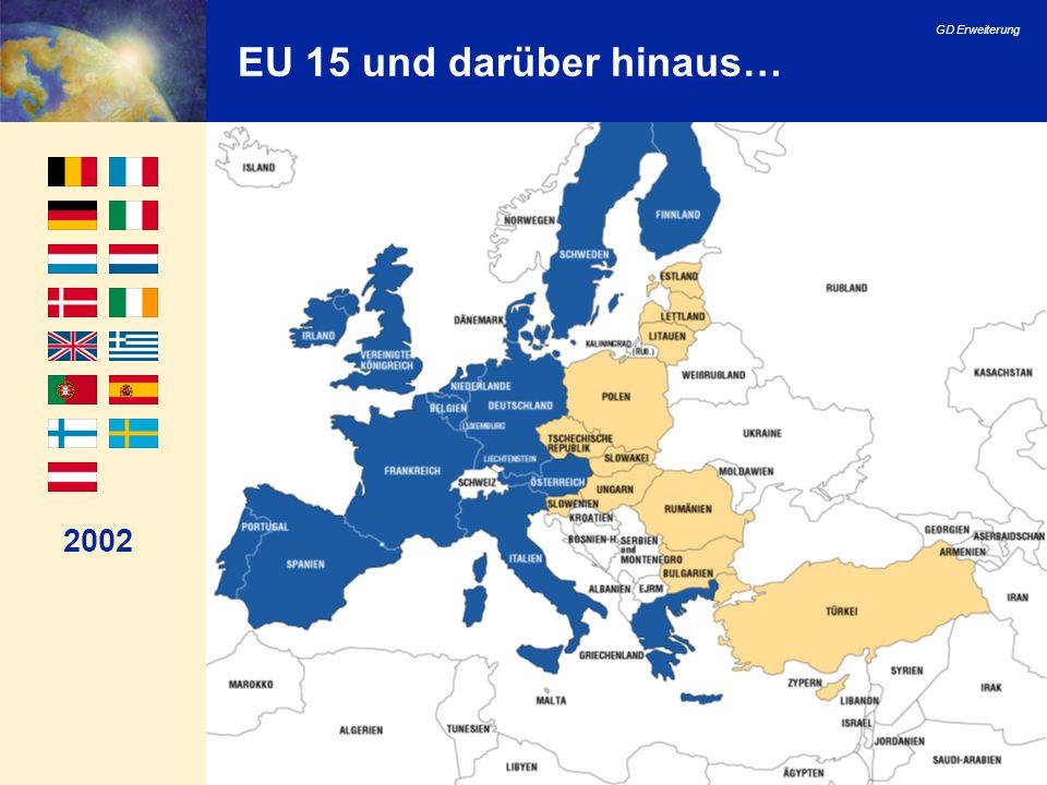 EU 15 und darüber hinaus… 2002