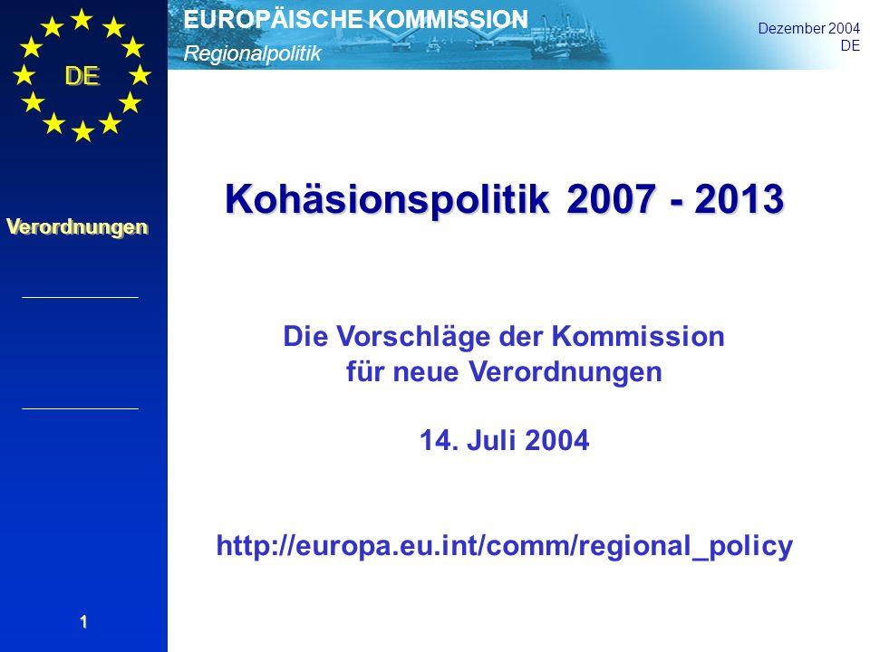 Die Vorschläge der Kommission