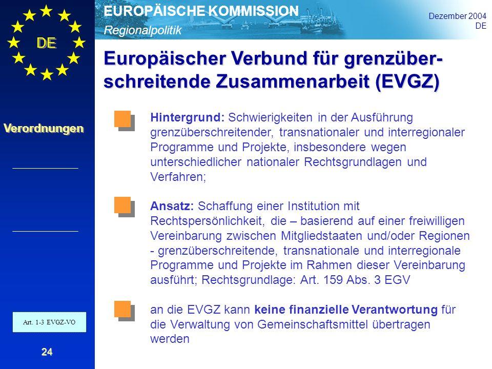Europäischer Verbund für grenzüber- schreitende Zusammenarbeit (EVGZ)
