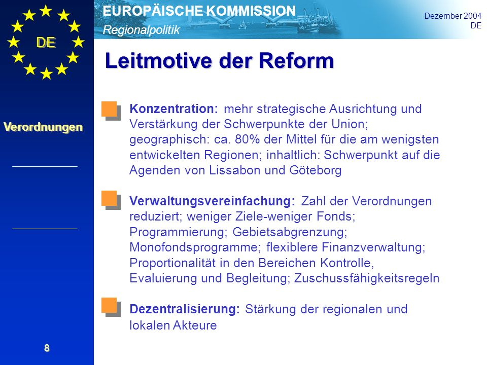 Leitmotive der Reform
