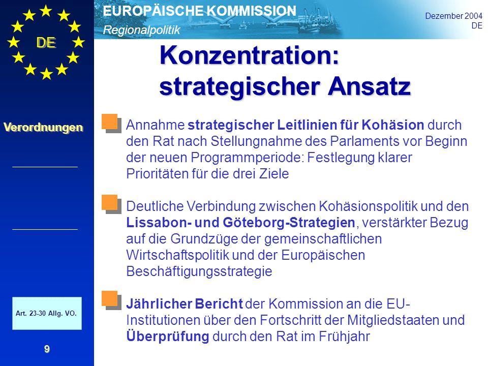 Konzentration: strategischer Ansatz
