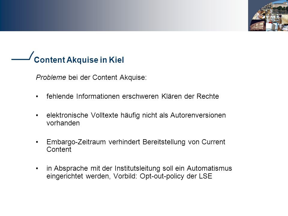 Content Akquise in Kiel