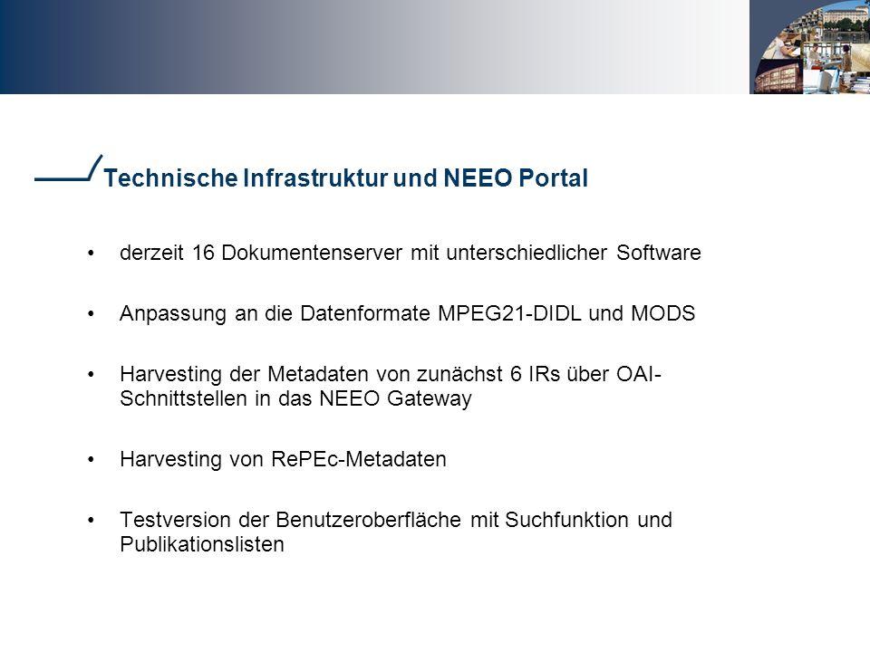 Technische Infrastruktur und NEEO Portal