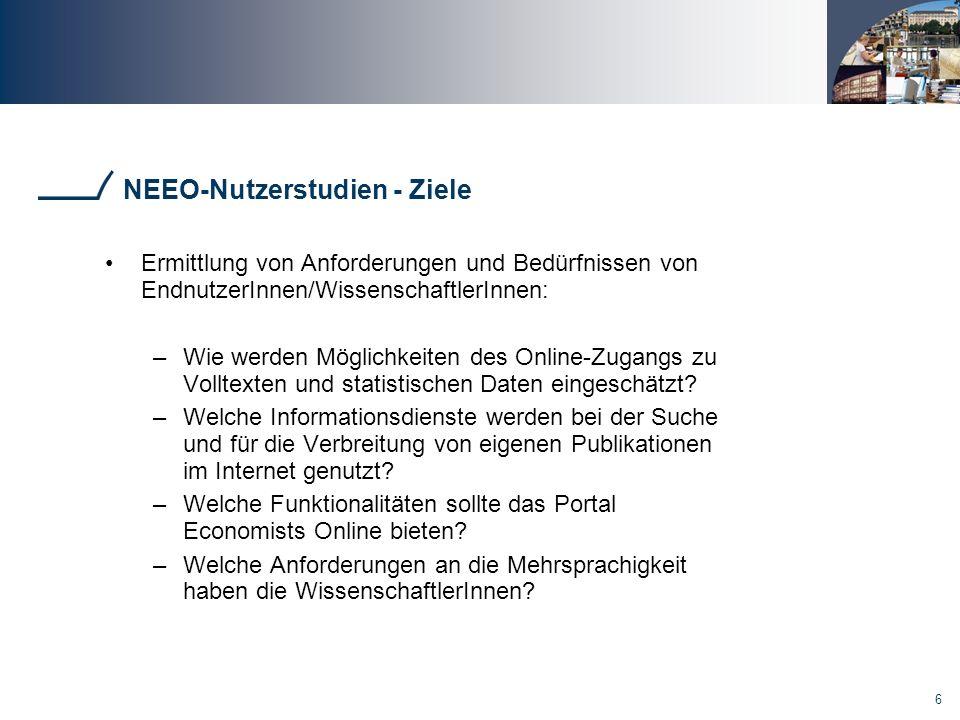 NEEO-Nutzerstudien - Ziele