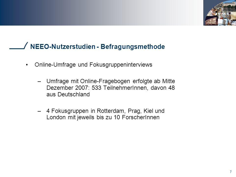 NEEO-Nutzerstudien - Befragungsmethode