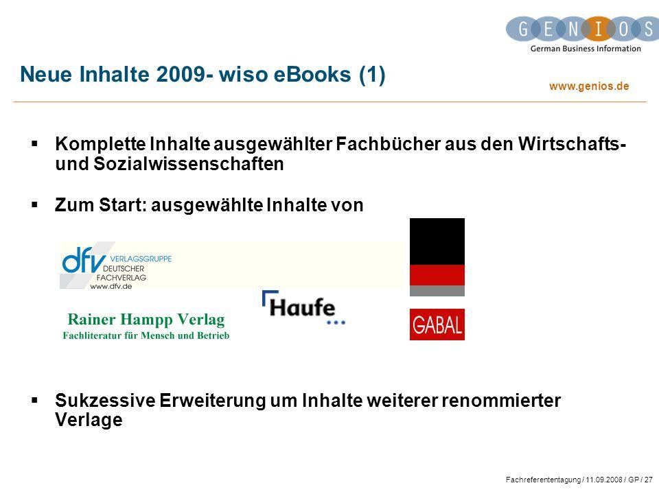 Neue Inhalte 2009- wiso eBooks (1)