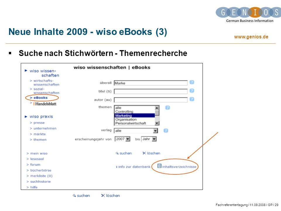 Neue Inhalte 2009 - wiso eBooks (3)