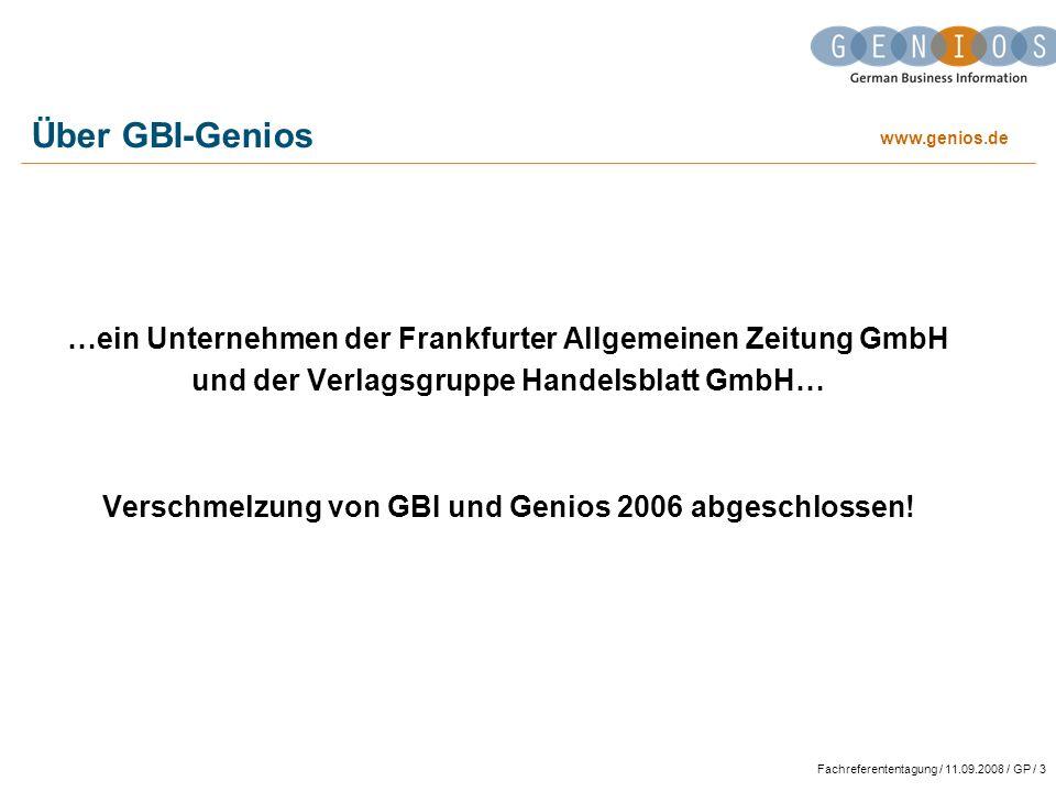 Über GBI-Genios …ein Unternehmen der Frankfurter Allgemeinen Zeitung GmbH. und der Verlagsgruppe Handelsblatt GmbH…