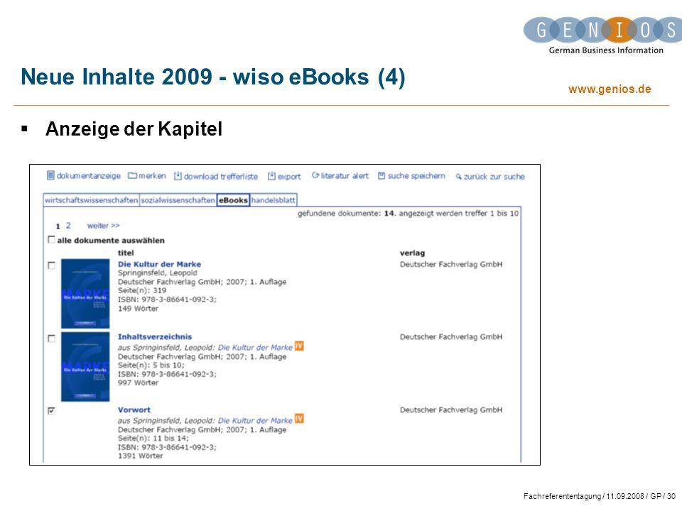 Neue Inhalte 2009 - wiso eBooks (4)
