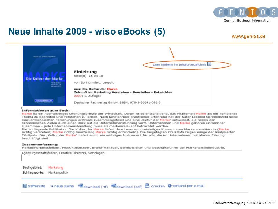 Neue Inhalte 2009 - wiso eBooks (5)
