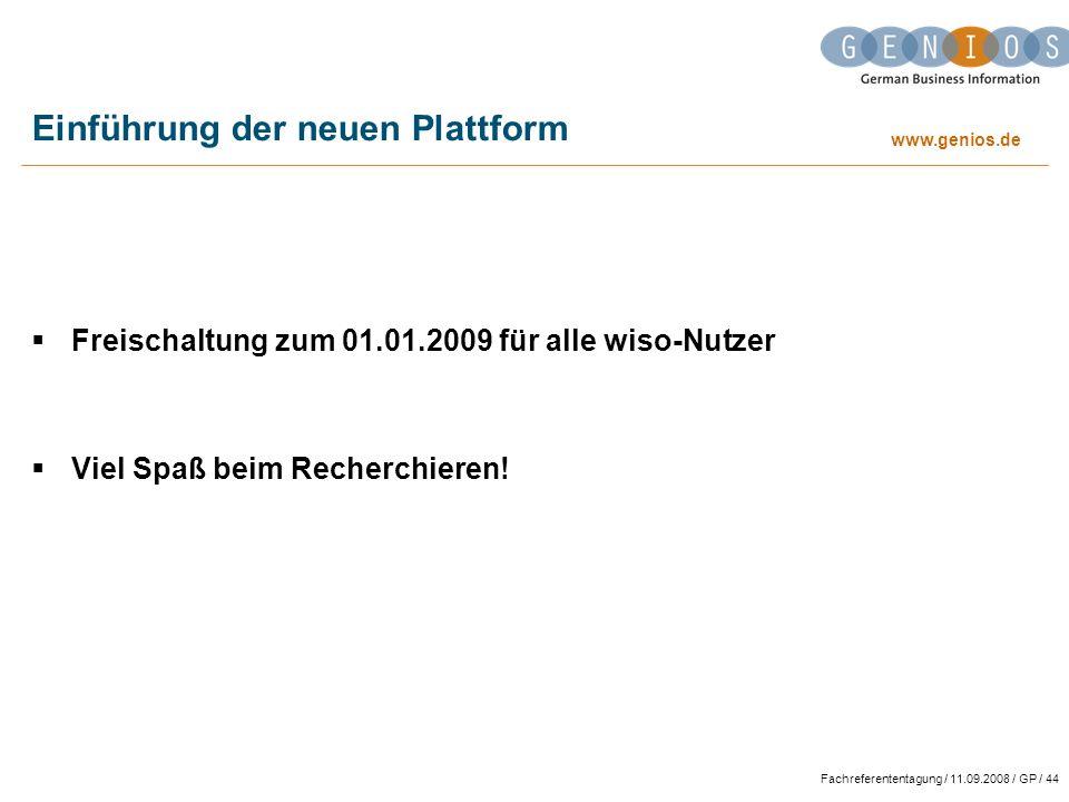 Einführung der neuen Plattform