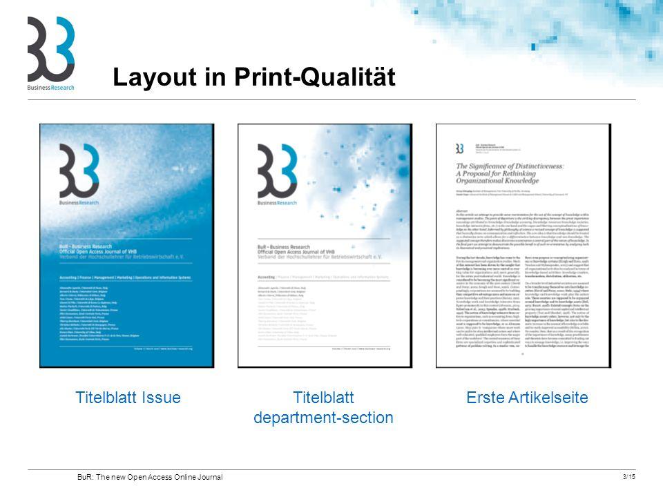 Layout in Print-Qualität