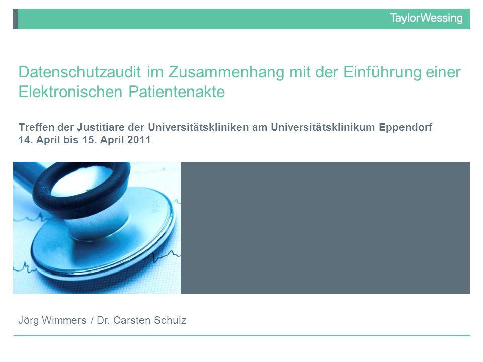 Datenschutzaudit im Zusammenhang mit der Einführung einer Elektronischen Patientenakte