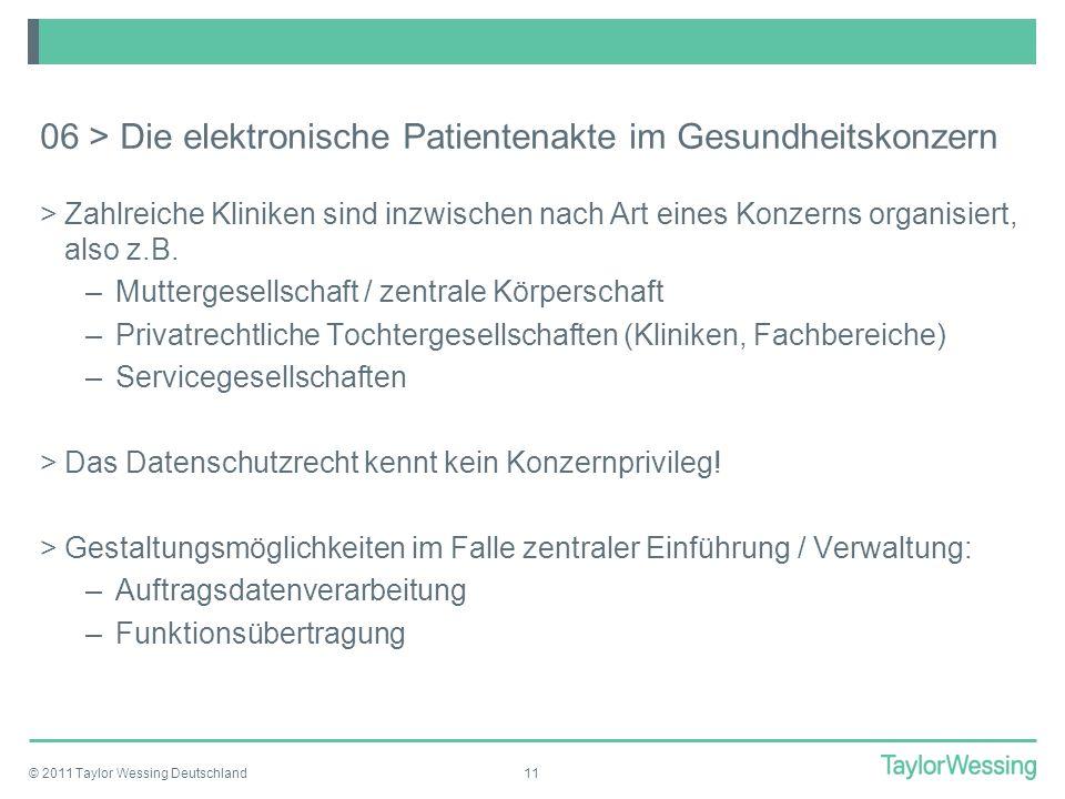 06 > Die elektronische Patientenakte im Gesundheitskonzern