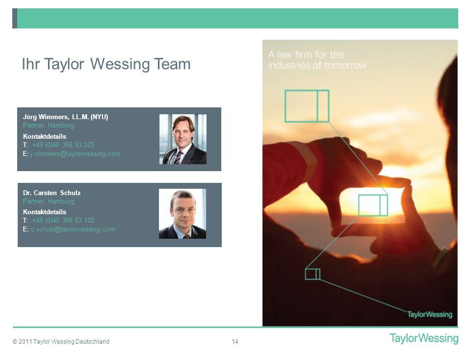 Ihr Taylor Wessing Team
