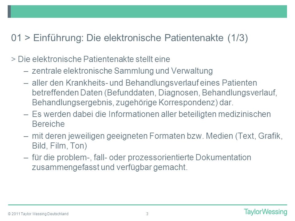 01 > Einführung: Die elektronische Patientenakte (1/3)