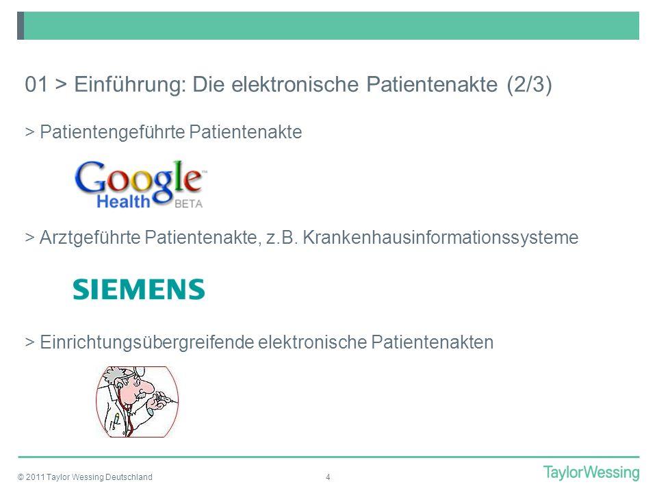 01 > Einführung: Die elektronische Patientenakte (2/3)