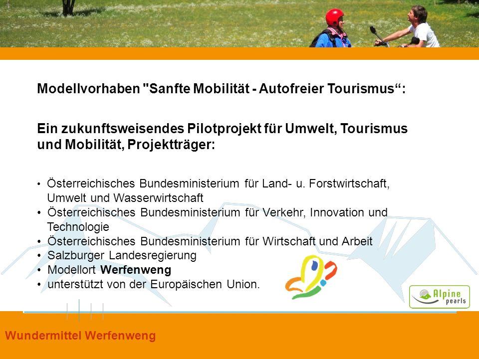 Modellvorhaben Sanfte Mobilität - Autofreier Tourismus :