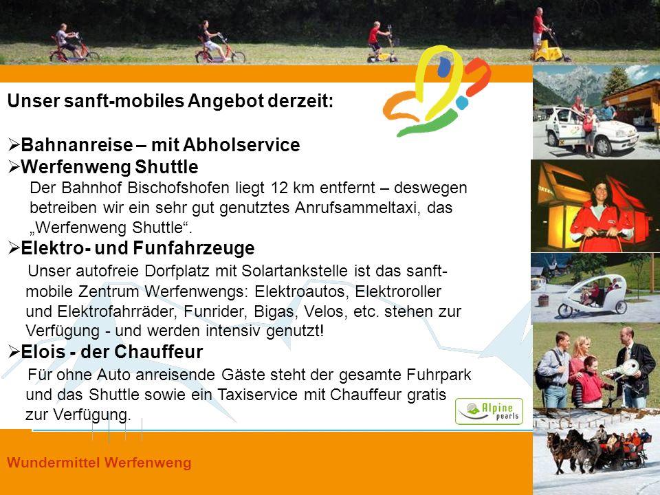 Unser sanft-mobiles Angebot derzeit: Bahnanreise – mit Abholservice
