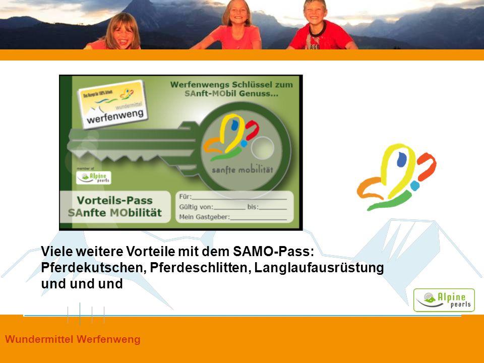Viele weitere Vorteile mit dem SAMO-Pass: Pferdekutschen, Pferdeschlitten, Langlaufausrüstung und und und