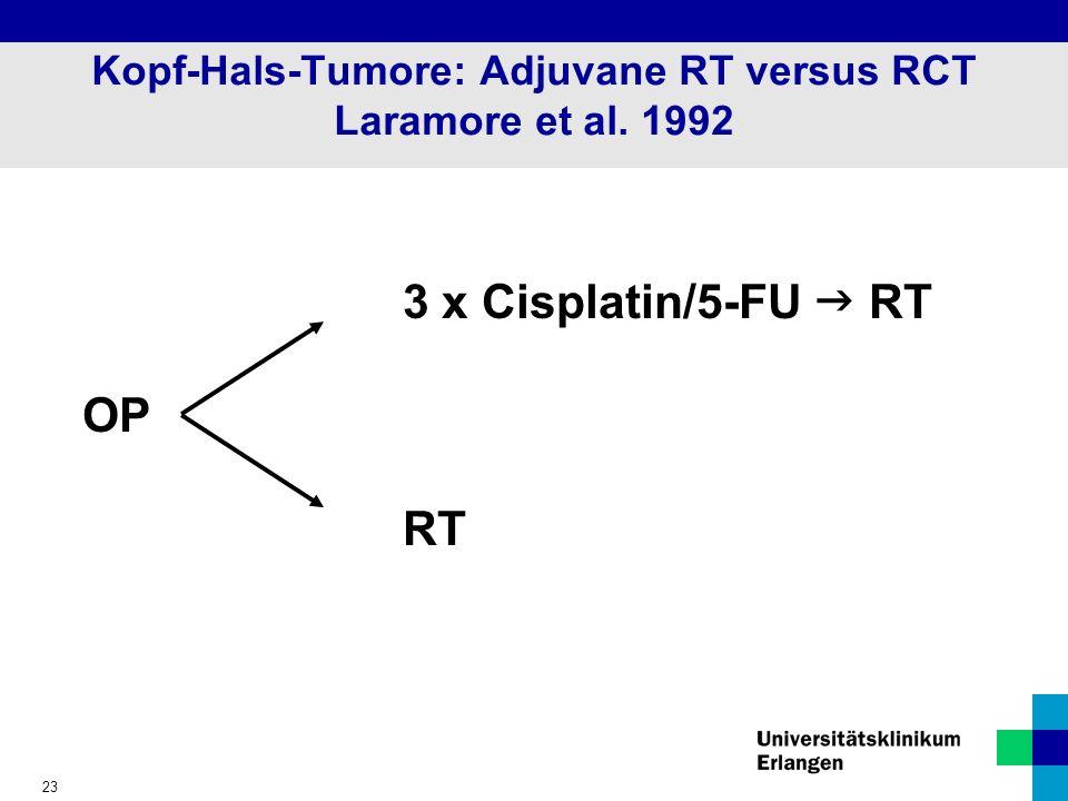 Kopf-Hals-Tumore: Adjuvane RT versus RCT Laramore et al. 1992
