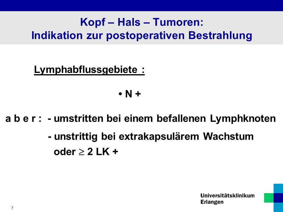 Kopf – Hals – Tumoren: Indikation zur postoperativen Bestrahlung