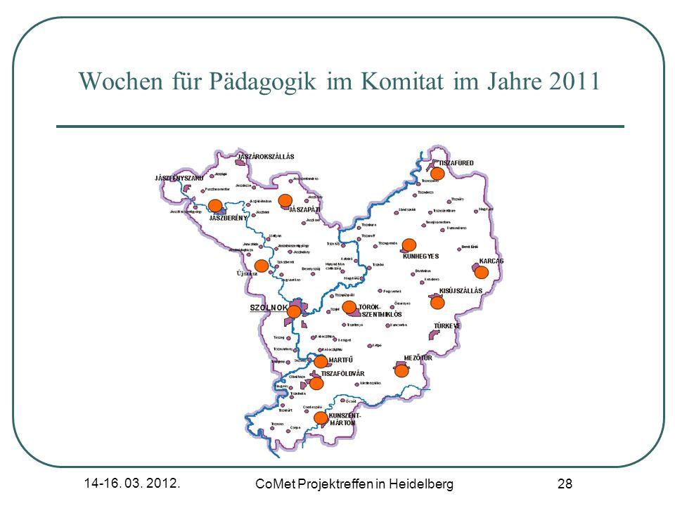 Wochen für Pädagogik im Komitat im Jahre 2011