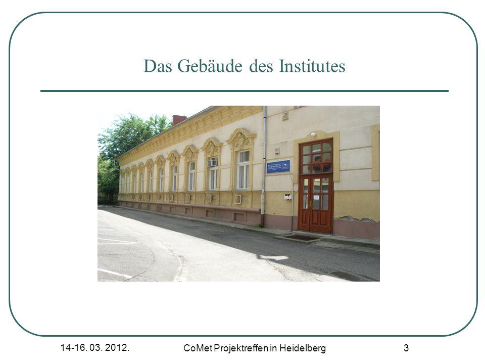 Das Gebäude des Institutes