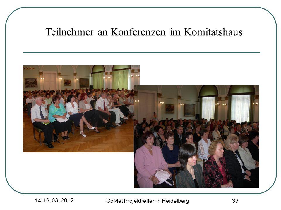 Teilnehmer an Konferenzen im Komitatshaus
