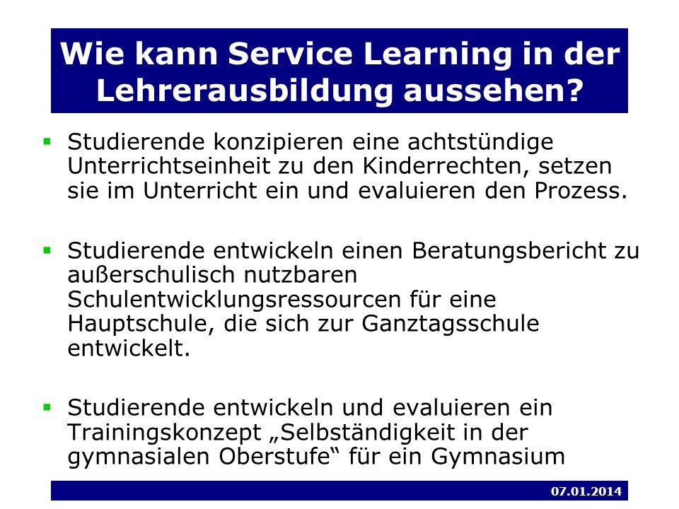Wie kann Service Learning in der Lehrerausbildung aussehen