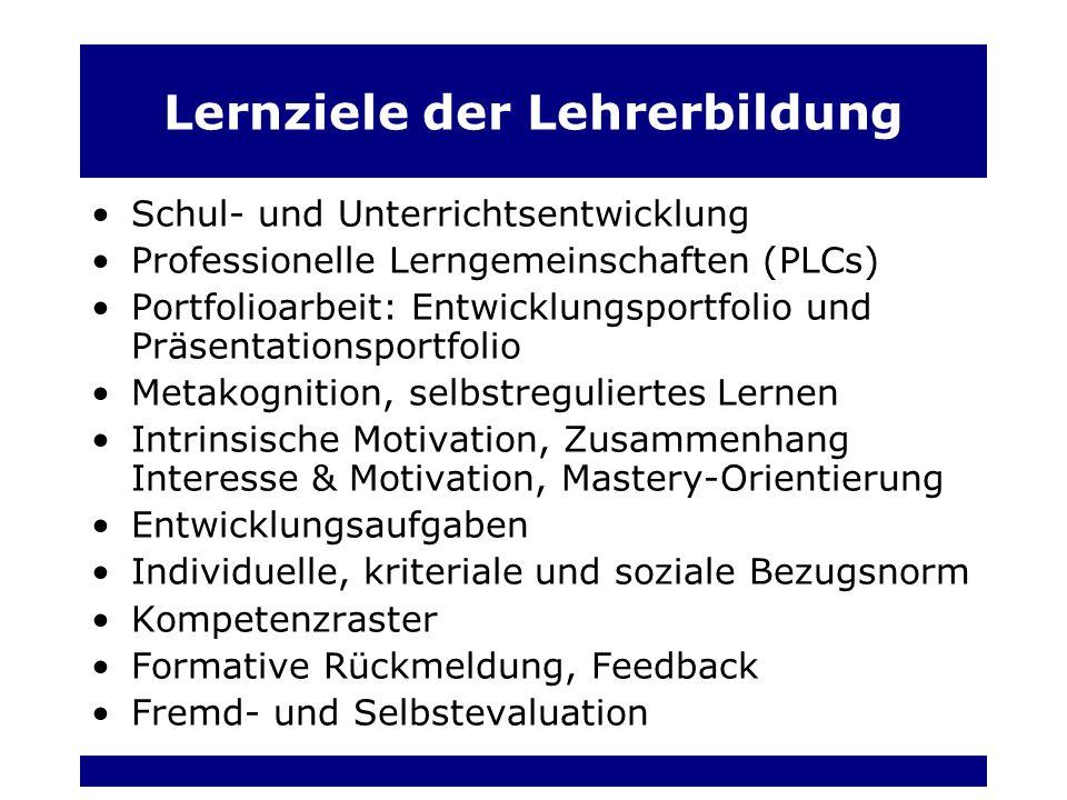 Lernziele der Lehrerbildung