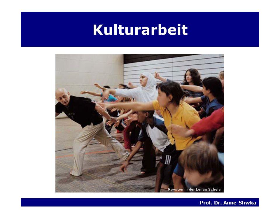 Kulturarbeit Prof. Dr. Anne Sliwka