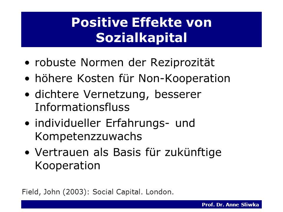 Positive Effekte von Sozialkapital