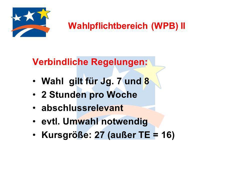 Wahlpflichtbereich (WPB) II