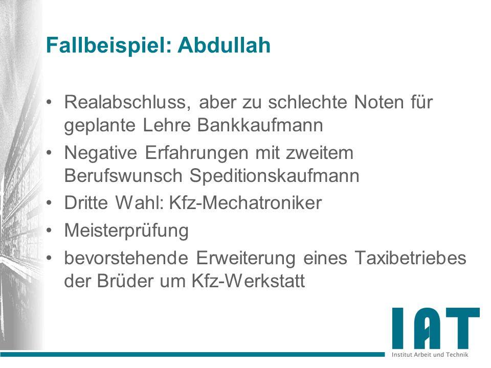 Fallbeispiel: Abdullah